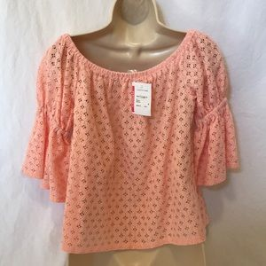 Soprano Tops - Soprano Size Small Pink off the shoulder top